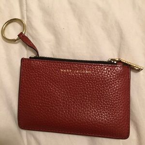 Red Marc Jacobs keychain Wallet